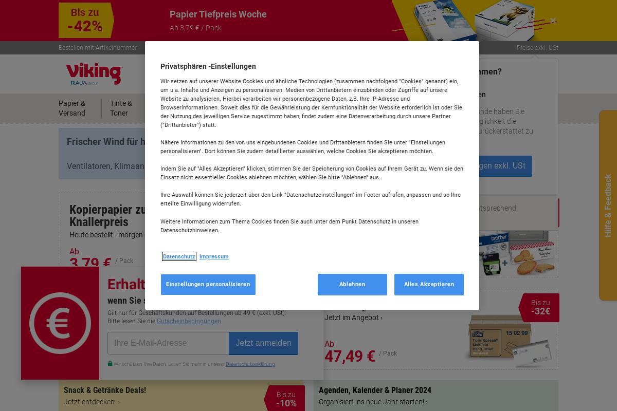 viking.de Privatkunden | Shop Info | Schulengel.de